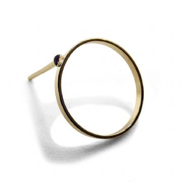 Gold Colour Hoop Stud Earring 12mm x 13mm  x 10 pcs